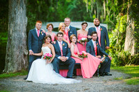 family + wedding party photos